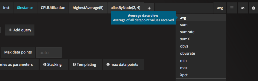 Average data view