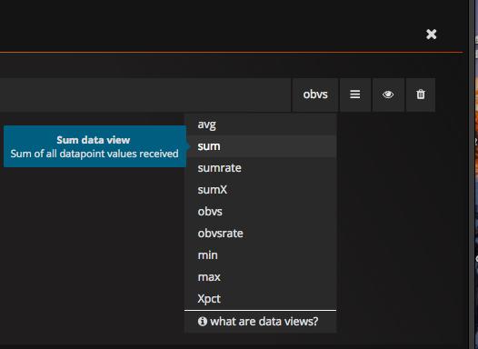 sum data view
